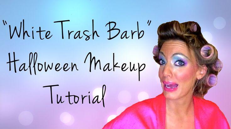 """White Trash Glam"" Halloween Makeup Tutorial - YouTube                                                                                                                                                     More"
