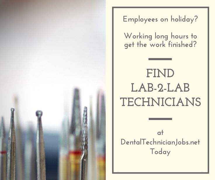 Find freelance technicians to help you through the holiday period.  https://dentaltechnicianjobs.net/lab-2-lab/?utm_content=buffer05555&utm_medium=social&utm_source=pinterest.com&utm_campaign=buffer