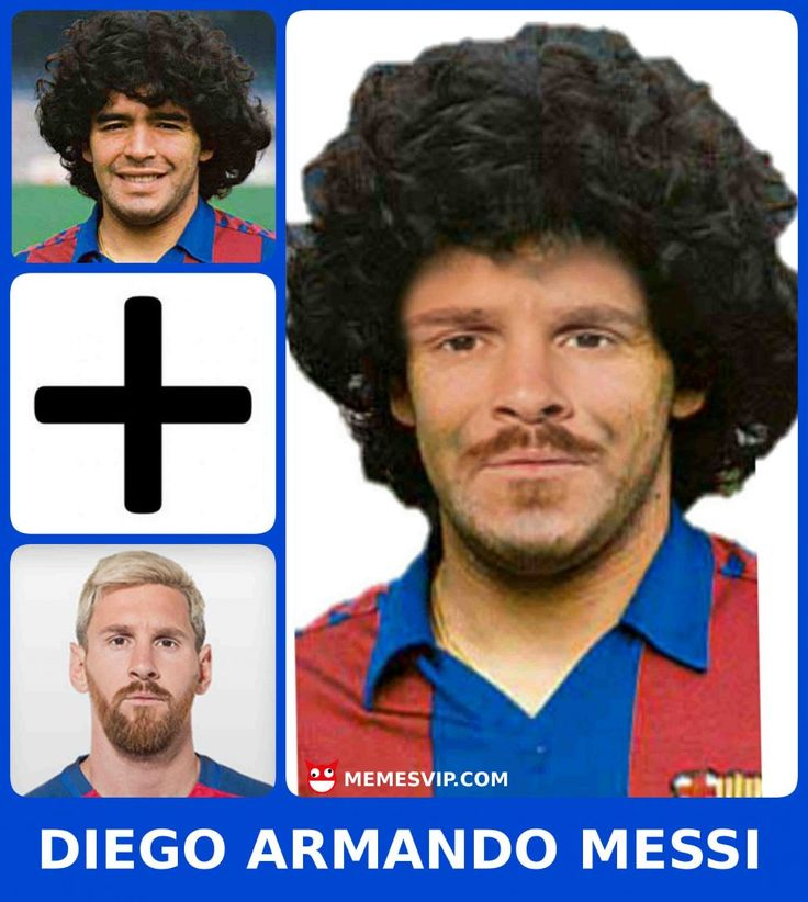 Meme Diego Armando Maradona más Lionel Messi: 'El Dios zurdo' - Diego Armando Maradona more Lionel Messi: 'The Left Handed God' meme