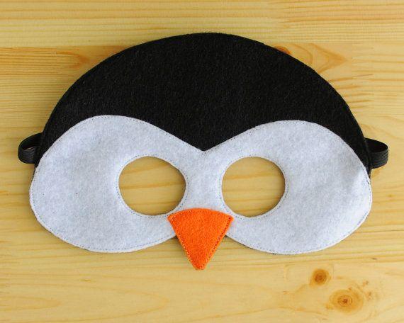Penguin Mask ADULT by oppositeoffar on Etsy, $18.00