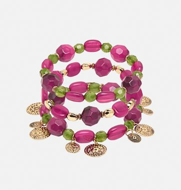 Find new plus size bracelets with stretch for comfort like the Berry Coin Stretch Bracelet Set available online at avenue.com. Avenue Store