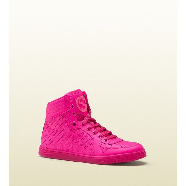 ff1ac1b4957 Gucci Coda Neon Pink Leather Sneaker found on Polyvore
