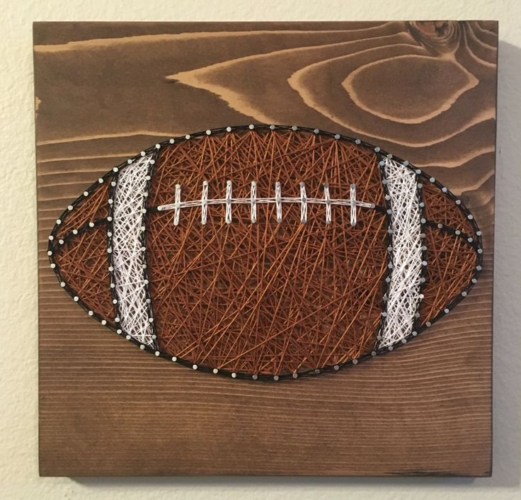 Football String Art- order from KiwiStrings on Etsy! www.kiwistrings.etsy.com