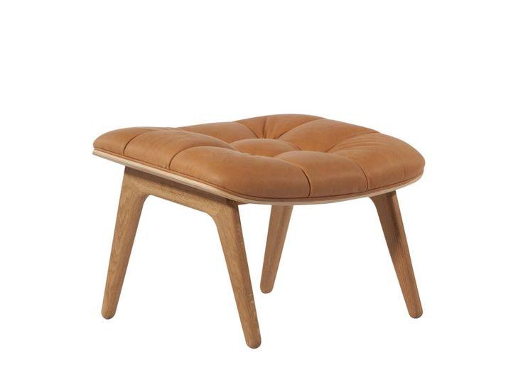 Buy online Mammoth | leather footstool By norr11, leather footstool design Knut Bendik Humlevik, Rune Krøjgaard, mammoth Collection