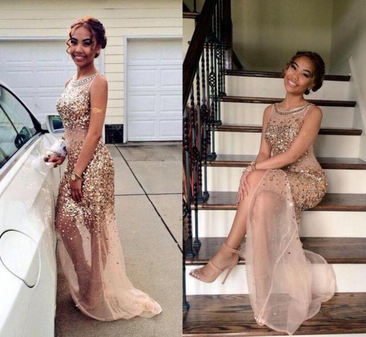 Prom Dress, Party Dress, Champagne Dress, Evening Dress, Dress Sale, High Slit Dress, Champagne Prom Dress, Dress Prom, Slit Dress, Hot Dress, Prom Dress Sale, Dress Party, Custom Dress, Side Slit Dress, Gown Dress