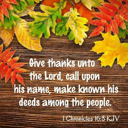 1 Chronicles 16:8 KJV