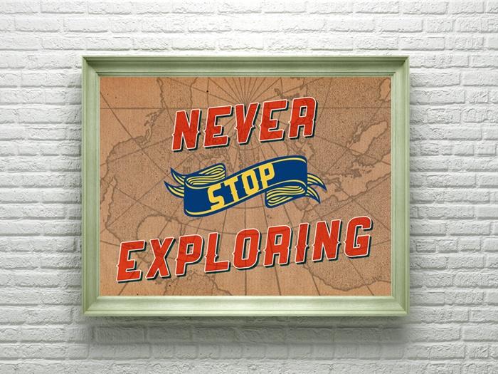 Never Stop Exploring: Wall Artworks, Lost, Exploring Art, Art Prints, Prints Uncovet, Crafts Stuff, Walls Artworks, Exploring Collaborative