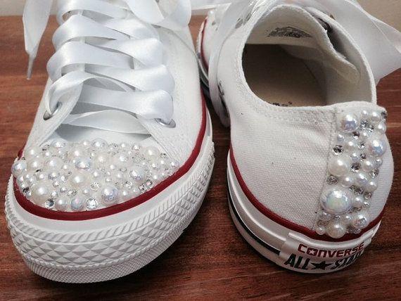 Jugend Pearl Converse / Converse / weiß Kinder von CindersWish