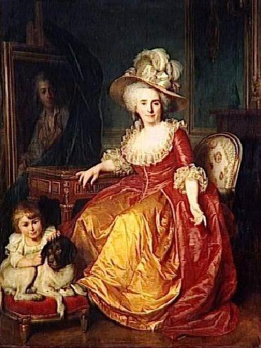 """""""Mme Vestier and her Son"""", Antoine Vestier, 1787; Musée du Louvre RF 139"""