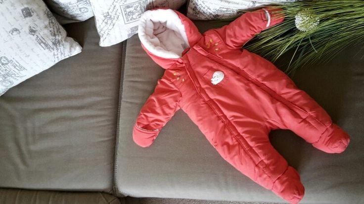 Warmer Schneeanzug Gr. 62/68 für Babygirls