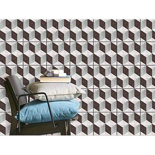 fliesenaufkleber abwaschbare fliesen sticker aufkleber folie selbstklebend bad renovieren kche dekoration bad 15x15 cm - Kuche Renovieren Folie