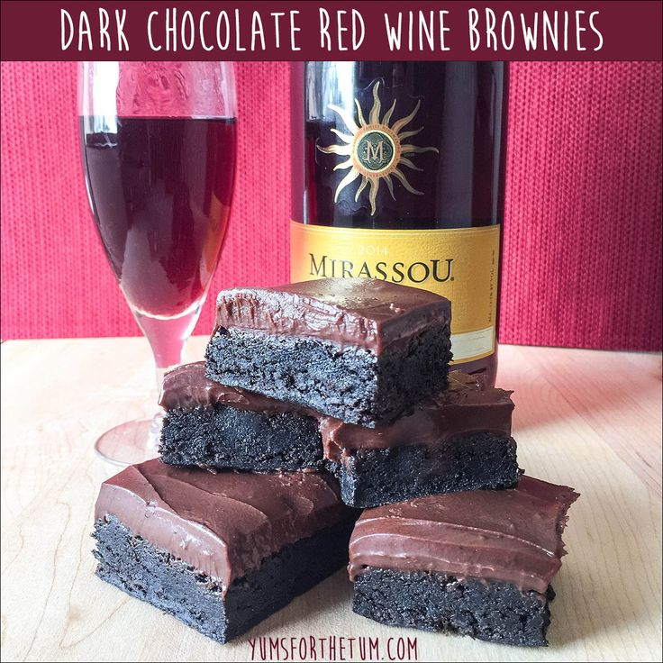 Dark Chocolate Red Wine Brownies | Recipe | Frostings, Ganache ...