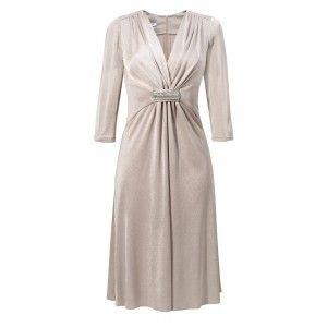 Kossmann - elegancka jasno złota sukienka
