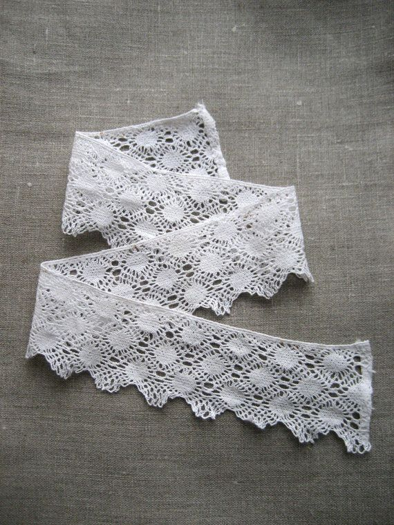 French Vintage Lace Edging  60mm wide/64cm by Chezpetitpica, €3.50