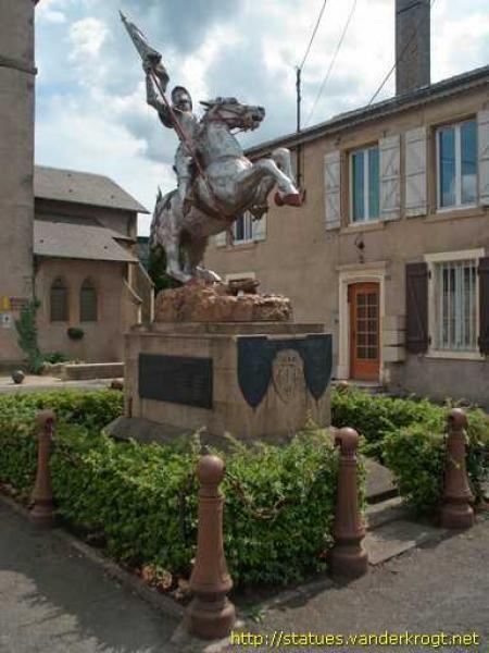 Statue équestre Jeanne d'Arc – Gandrange