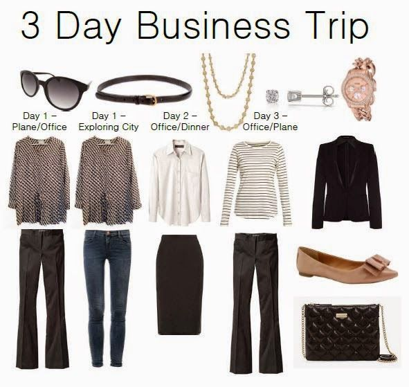 3 Day Business Trip - this is just what I need to pack plus winter hat!