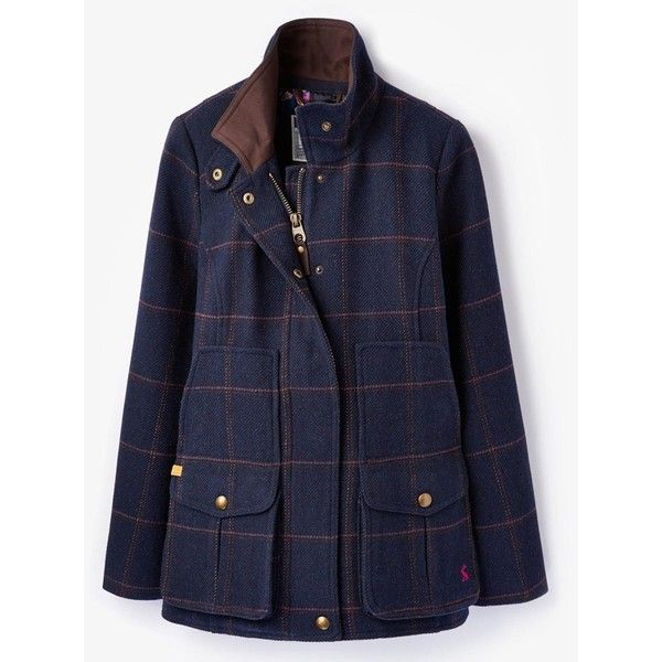 Radiating beautiful country charm, the women's Joules Fieldcoat Tweed Coat is classic styling at its best, fused with contemporary detailing for the modern wom…