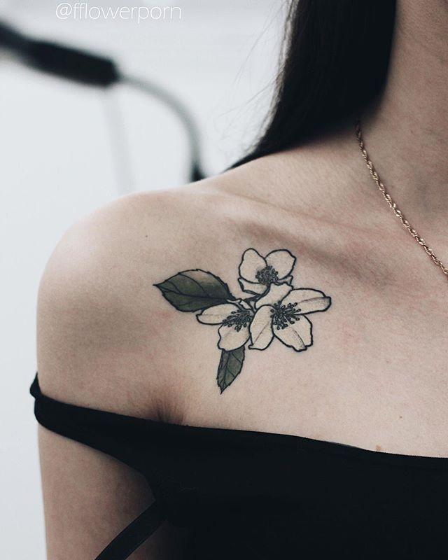 Dogwood flower tattoo | Olga Nekrasova