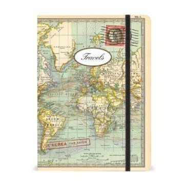 Notebook World Map - Bobangles #Cavallini #vintage #map #travel #notebook #stationery