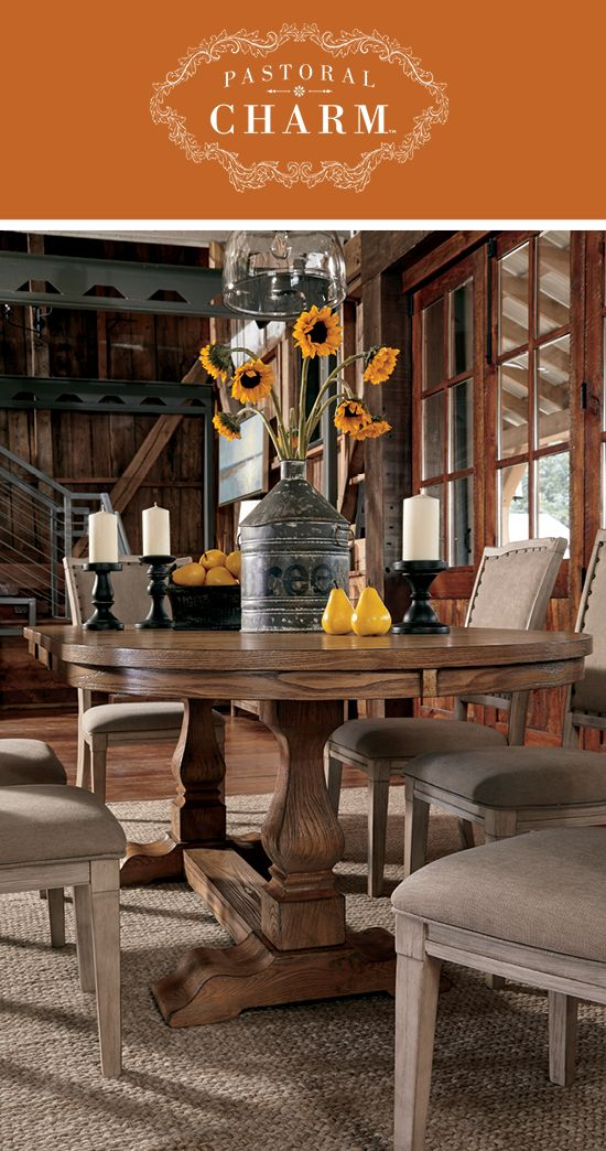 Pastoral Charm™ Dining Room Furniture - Demarlos Dining Room Chairs - Casual and Fresh Style - Ashley Furniture