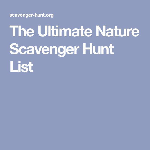 The Ultimate Nature Scavenger Hunt List