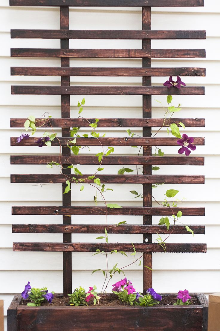 DIY Trellis and Planter Box Tutorial PLUS a Giveaway for a BLACK+DECKER AutoSense drill!