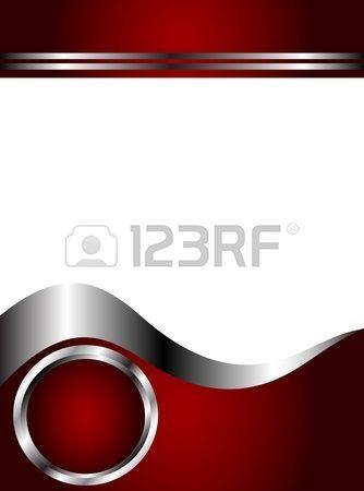 Un profondo rosso argento e bianco biglietto da visita o un modello di sfondo…