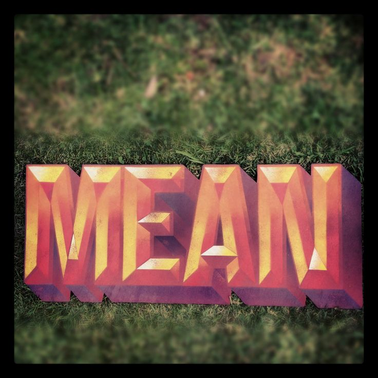 Spraypaint on plywood. Mean As!