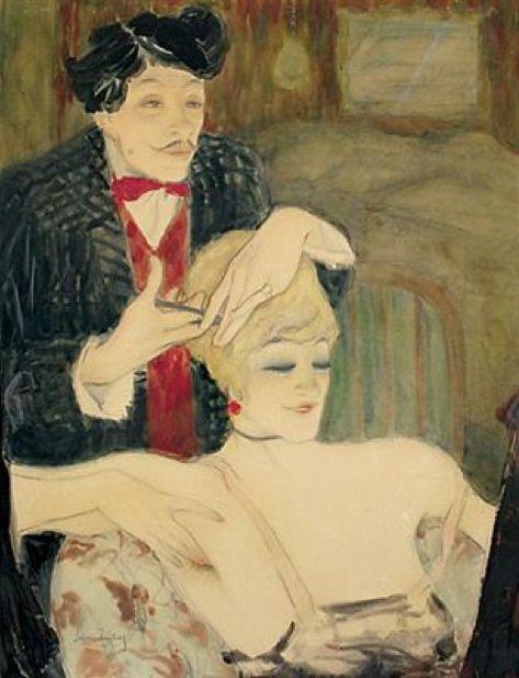 Der Friseur, 1914  by Walter Schnackenberg (German 1880–1961)