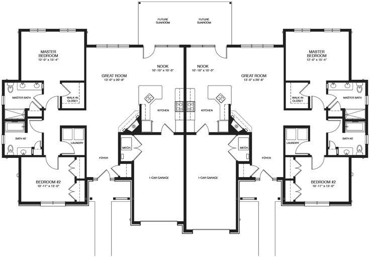 24 Best Duplex Plans Images On Pinterest Duplex Floor