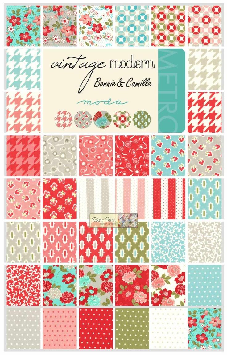 -Vintage Modern Fat Quarter Bundle - Patchwork & Quilting Fabric - $132.00 : Fabric Patch, Patchwork Quilting fabrics, Moda fabric, Quilt Supplies, Patterns