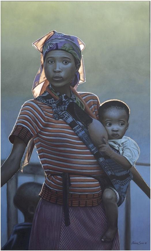 LOVE this original artwork from Josh Spies! http://www.shopjoshuaspies.com/print-Namibian-Woman-Child-62.html?bk=%2Flisting.html%3Ft%3Dqk%26q%3Dwoman%26t%3Dqk%26Go.x%3D0%26Go.y%3D0