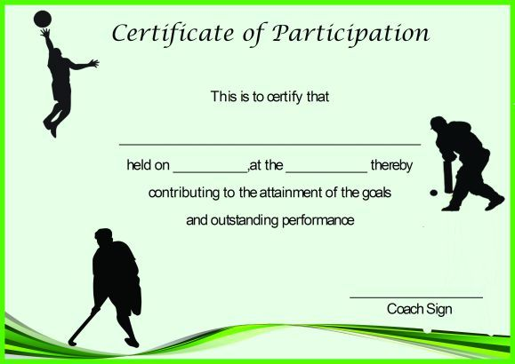 Certificate Of Participation Template 25 Downloadable Template Formats Demplate Certificate Of Participation Template Bio Data For Marriage Participation