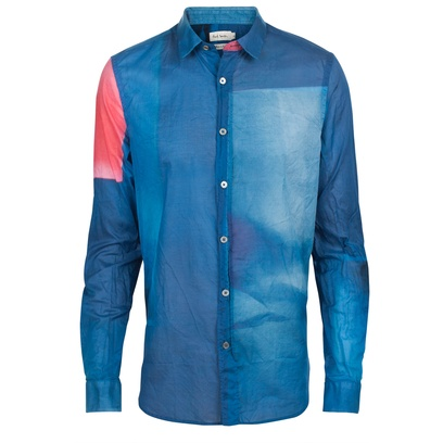 To die for! Casual slimfit abstract blue and pink shirt. By Paul Smith.