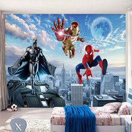 Custom Large Mural 3D Wallpaper Children's Room Living Room TV Sofa Background Wall Murals Wallpaper Avengers Hero murals-3d