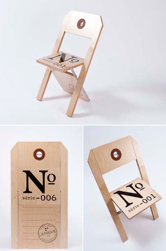 Superb Cool Furniture: Luggage Tag Chair