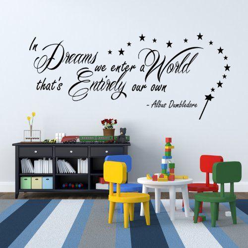 """G Direct - Citazione tratta da Harry Potter """"In Dreams we enter"""" di Albus Silente, adesiva, in vinile, da parete, per camera da letto G Direct http://www.amazon.it/dp/B00CICZ0TY/ref=cm_sw_r_pi_dp_yEwWub16VVHTK"""