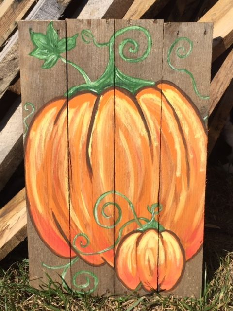 Pallet Party Pumpkin … | Fall pallets, Pallet painting ...