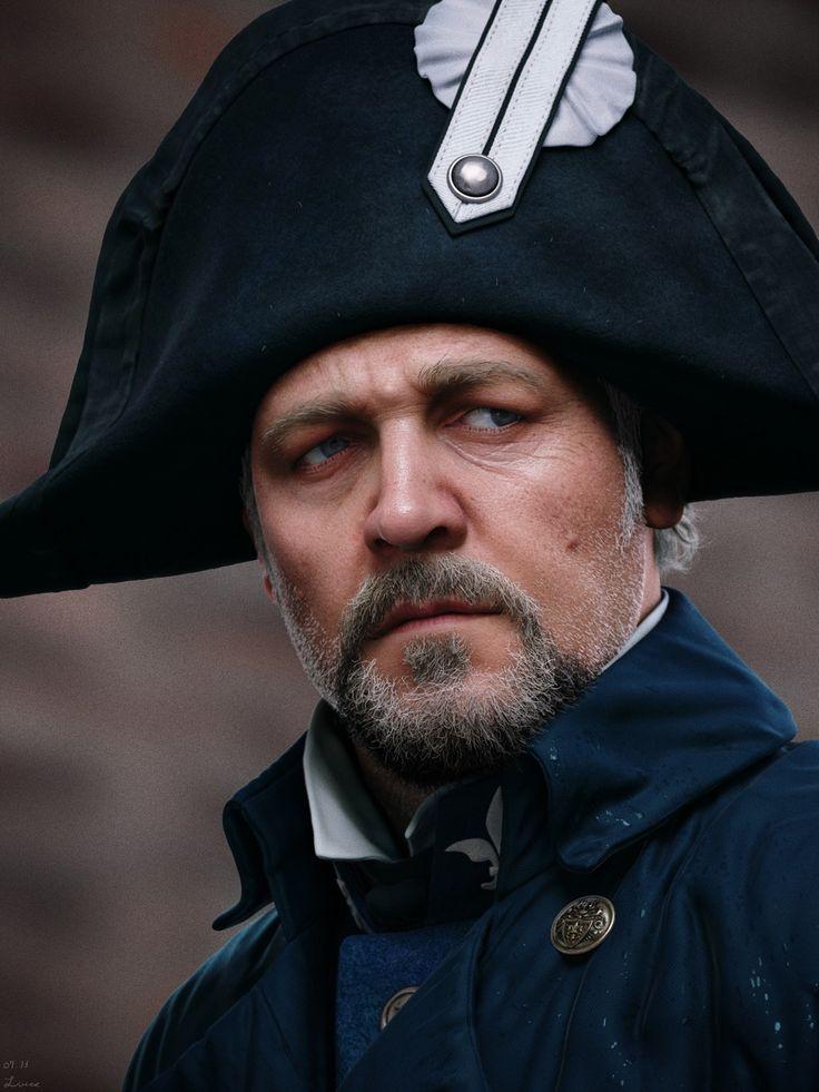 Les Miserables 'Javert' - Russell Crowe - Maya render portrait Z-Brush - mental ray - Photoshop