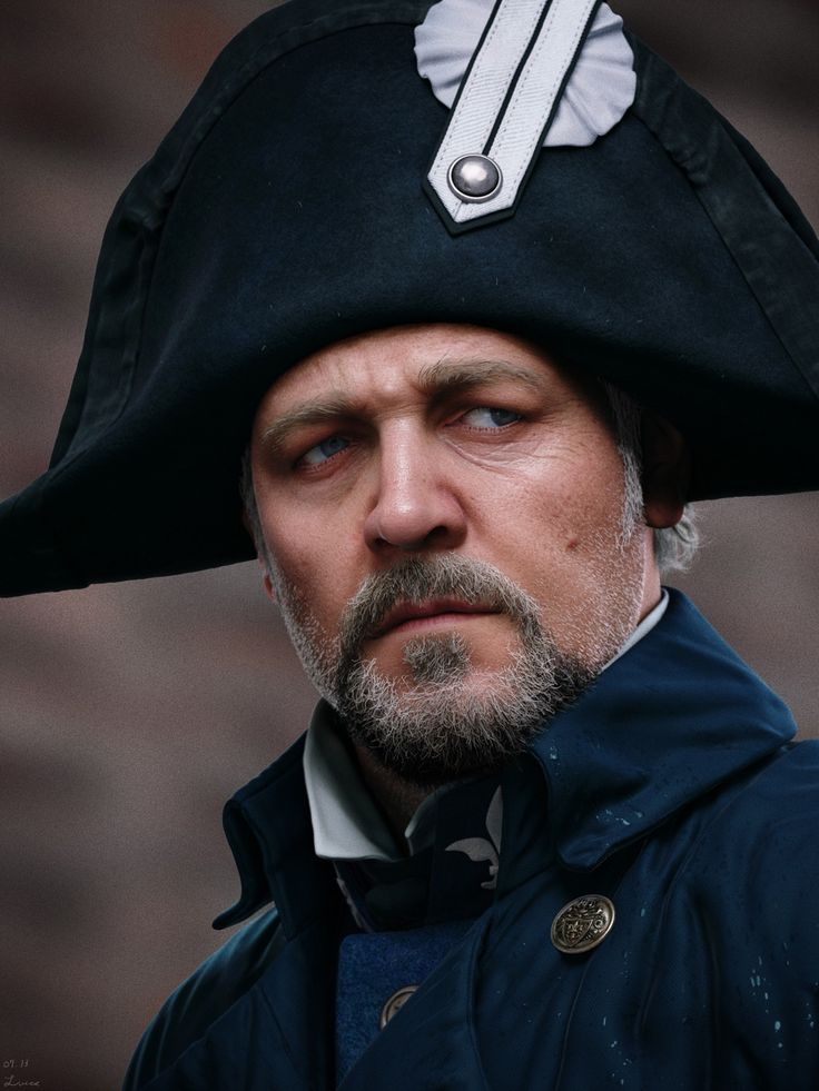 Les Miserables 'Javert' - Russell Crowe - Maya render portrait Z-Brush - mental ray - Photoshop