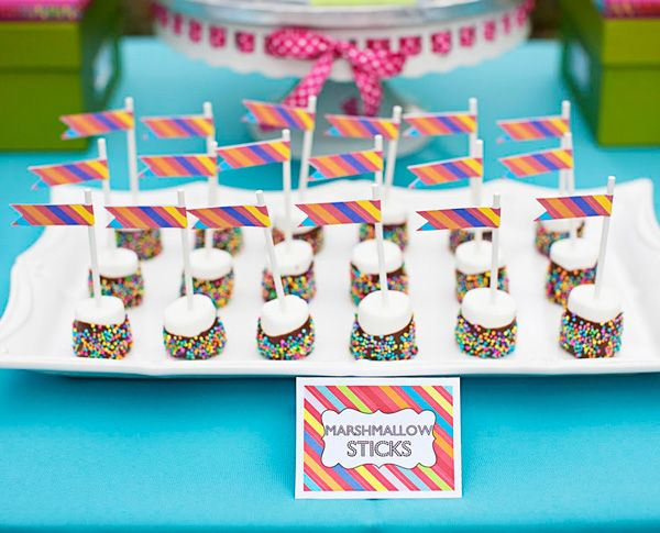 chocolate dipped marshmallows: Themed Birthday Parties, Birthdays, Marshmallows, Party Ideas, Baby Shower, Birthday Ideas, Kid, Birthday Party