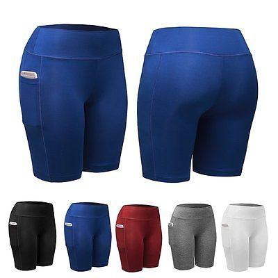Pantalones Cortos de Compresión para Mujer Yoga Fitness Sin Costuras Correr Gimnasio Pantalones Deportivos De Confort