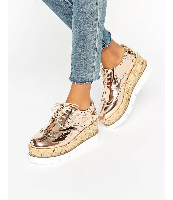 Toto Coins Espadrille Coupe Large - Rose Asos D'or xqKet6QR59