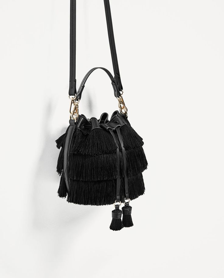 Image 1 of MINI BUCKET BAG WITH FRINGE from Zara