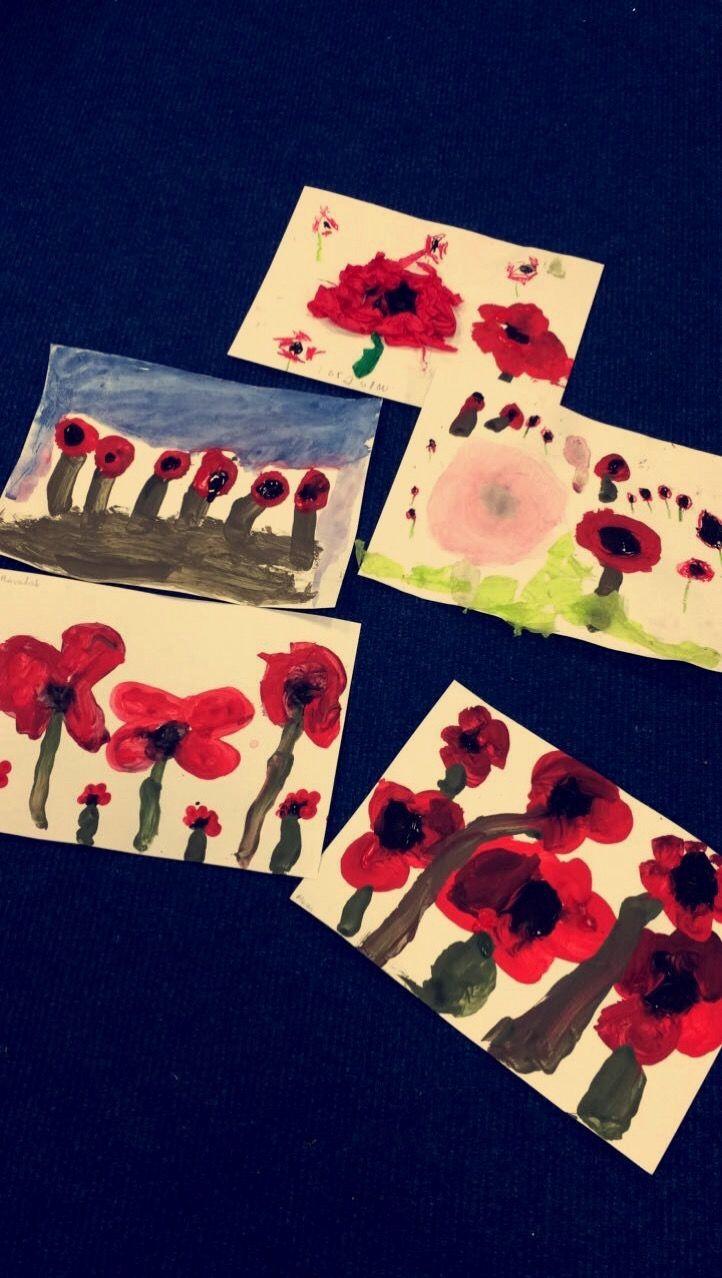 Remembrance Day Art ! #EYFS #poppies #remembrancedayart #earlyyears
