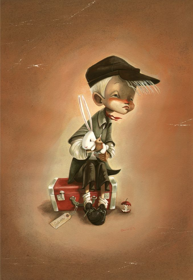 Oliver Twist with a Bunny Rabbit by Daniela Volpari