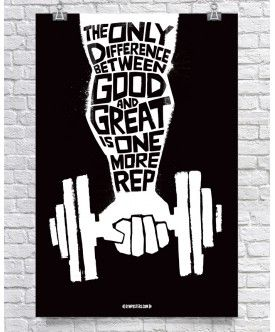 Difference Between Good & Great - Black $26.00 GymPosters.com High quality, unique posters that help motivate and boost your workout. http://gymposters.com/ Motivational Fitness Supplements,Weightlifting, Body Building