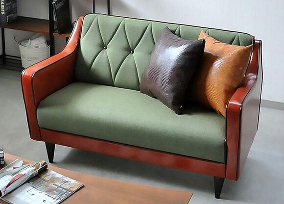 nordic ikea divano piccolo appartamento soggiorno divano combinazione di singolo e doppio divano fl081 trio