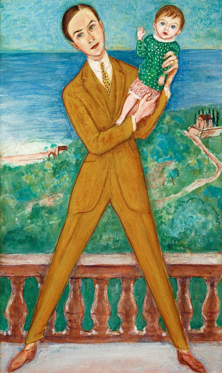 Min dotter Signerad Dardel och daterad 1923. Akvarell på papper 45 x 28 cm.
