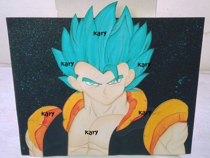 Goku, Goku god blu, Goku Super SaiyajinDios, Dragon Ball, Super Saiyan God, party, birthday, fiesta infantil, festa, goma eva, fomi, microporoso